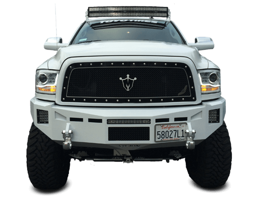 off road light bar on full size truck